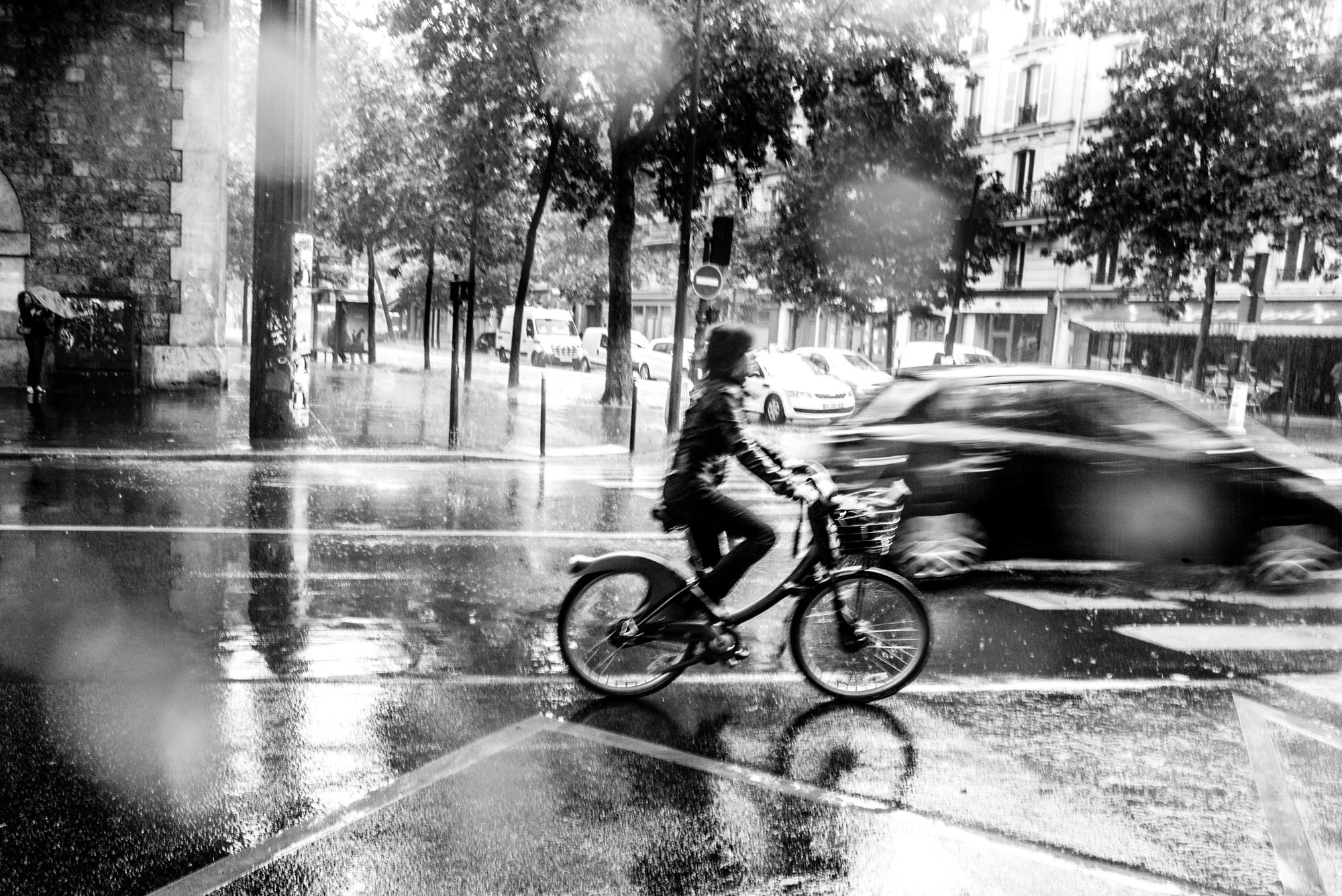Paris Quinze-Vingts sous la pluie